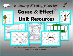 Cause and Effect Unit Resources product from SophistThoughts on TeachersNotebook.com