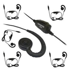 Kenwood KHS-34 Earhook with Clip On Mic for PKT-23 Six Pack