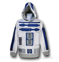 Star Wars R2D2 Costume Zip Hoodie (LOVE!!!)