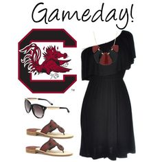 """""""South Carolina Gamecocks"""" by southernbelle on Polyvore  Cute way to support your team :)"""