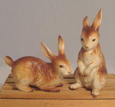 Vintage Rabbit Figurines via Timeless Treasures Ltd