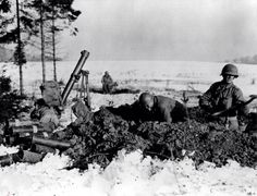 American GI's get ready for confrontation in the battle of the bulge