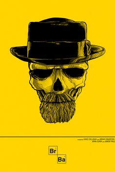 Breaking Bad - Unofficial print by Lisbon based Graphic Artist & Art Director Pedro B Maia | Drama, TV Series.