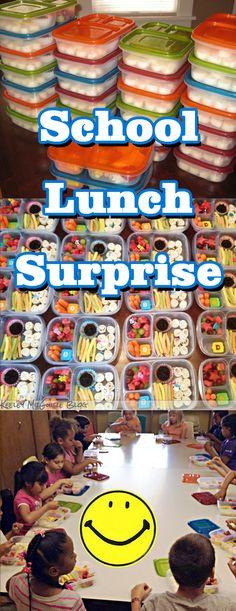 school lunch surprise