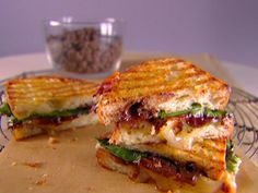 Get Panini with Chocolate and Brie Recipe from Cooking Channel