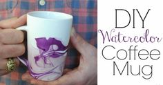 Just in time for mother's day! This DIY watercolor coffee mug is a great gift for Mom.