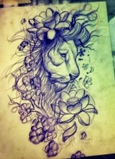 lion #tattoo - I would so love to have this as a sleeve-BEAUTIFUL