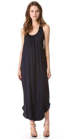 L'AGENCE Cross Back Column Dress #summer