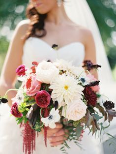 One of those WOW #Bouquets ! See the wedding on #SMP Weddings:  http://www.stylemepretty.com/2013/12/19/omaha-wedding-at-shadowridge-country-club/   Megan Pomeroy Photography