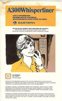 Safety card - Eastern Airlines A300 Whisperliner - 1978