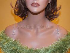 Decorative Bra Straps Chanel Pattern Imitation-Rhodium - Item # 1038 - Rhinestone http://www.giovonna.com/