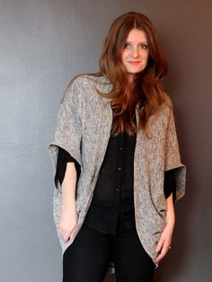 DIY COCOON CARDIGAN | True Bias - really lovely simple pattern, I'm going to try making one out of fleece