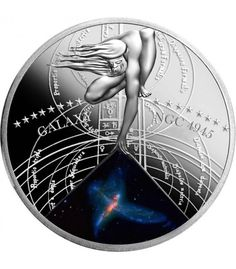 Niue 2015 The Most Beautiful Galaxies The Tinker Bell Triplet NGC 4945 Silver Proof Coin