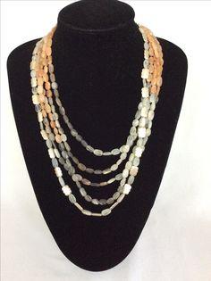 Beaded Necklace, Jewelry Design, Stone, Fashion, Beaded Collar, Moda, Rock, Pearl Necklace, Fashion Styles