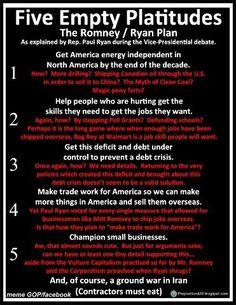 Five Empty Platitudes from Romney/Ryan plan