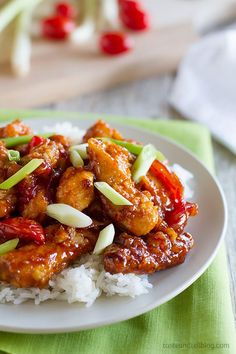 Skip the take out - this Chinese chicken recipe is a little bit sweet and a lot of delicious!