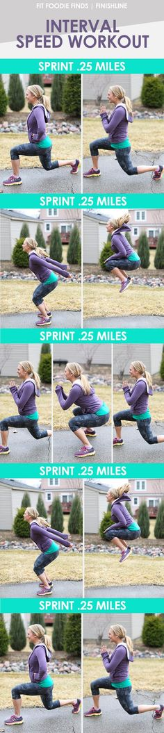 Mix sprints and strength for a quick, yet efficient workout that can be done anywhere, anytime!