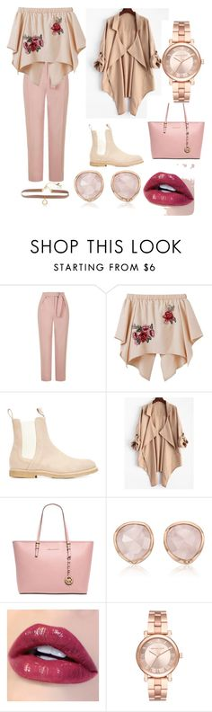 """pink chelsea boots"" by mobarshira-mourine on Polyvore featuring Topshop, daniel patrick, Michael Kors, Monica Vinader and Lonna & Lilly"