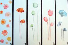 Marque-pages aquarelle originalemarque-pages peint à la