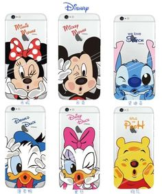 Lovely Cartoon Soft TPU Case For Apple iPhone 6 6S Plus 7 Plus Minnie Mickey Mouse Stitch Shell Back Cover Coque