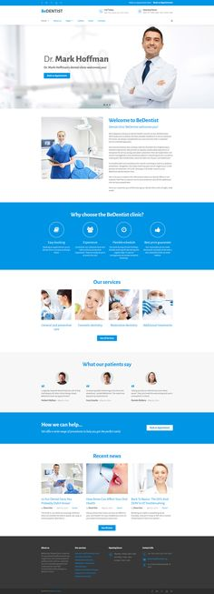 Be Dentist Website Template This theme with snow-white layout was created specifically for dental clinics. Website Templates, Joomla Templates, Wordpress Template, Website Layout, Web Layout, Website Ideas, Website Images, Dentist Website, Hospital Website