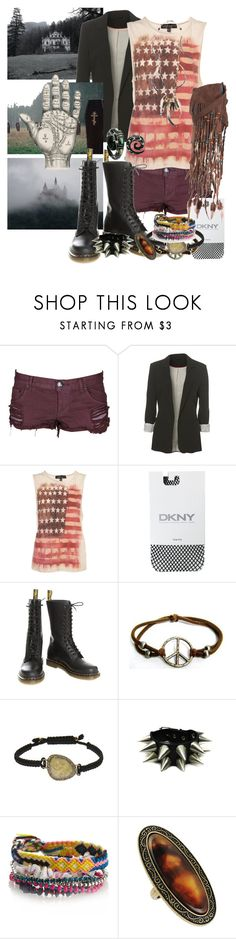 """Bad reputation"" by mademoisellevampire ❤ liked on Polyvore featuring OneTeaspoon, Topshop, DKNY, Dr. Martens, Kimberly McDonald, Erickson Beamon, Monsoon and Forever 21"
