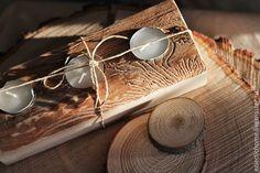 Купить Деревянные подсвечники (на заказ) - бежевый, коричневый, дерево, деревянный, подсвечник, свеча, Свечи