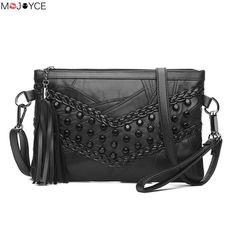 b91ab28804d Cheap fashion handbag, Buy Quality handbags fashion directly from China rivet  handbag Suppliers  Luxury Soft Genuine Sheepskin Leather Women s Shoulder  Bag ...