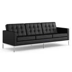 Sofa in Volo, Black, Florence Knoll. $14,273.