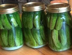 My grandma Nola's refrigerator pickles. Made 4 quarts of these today! (July 27, 2015) I've been making them since 1990.