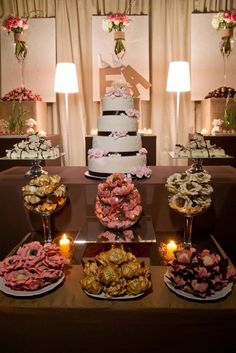 Or just have a dessert table by itself....a lot less waste by the end of the night.