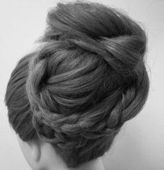 Wedding hair bridal hair prom hair Asthecurlturns.com Facebook.com/victoryroll  Doordye-sj.com