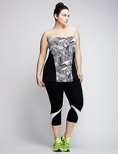 Meet your next workout sesh's best friend: this  tank. Cool-touch fabric wicks away moisture as you move. Strappy back. lanebryant.com