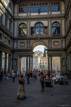 Courtyard of Art - Florence, Italy