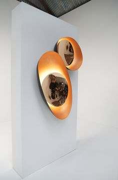 Medium: Hand-raised mirror-polished, patinated and brushed solid bronze,Magnets, LEDs Glass Printing, Clinic Design, Wall Mounted Light, Light Project, Wall Design, Chair Design, Design Design, Design Ideas, Lighting Design