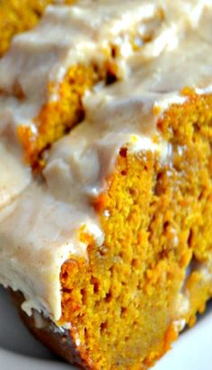 The Best Pumpkin Bread with Brown Butter Maple Icing. omg delicious