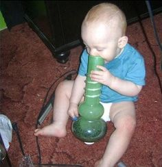 Colorado Make Pot Legal Baby Celebrates by Smoking a Bong - Parenting Fail  ---- best hilarious jokes funny pictures walmart humor fail