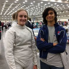 Megan and Gabe representing All-American Fencing Academy in Baltimore at the North American Cup!