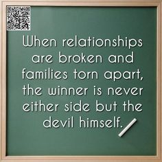 When #disputes and rivalry arises in the #church or in a #family no one is the winner except the devil.