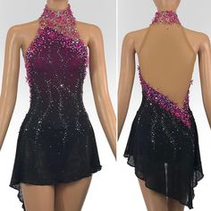 You are in the right place about Skating Dresses gray Here we offer you the most beautiful pictures Ice Dance Dresses, Ice Skating Dresses, Figure Skating Outfits, Figure Skating Costumes, Girls Dance Costumes, Dance Outfits, Salsa Dress, Skate Wear, Roller Derby
