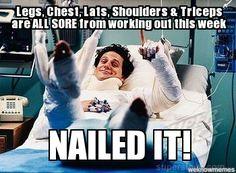 After workout pain meme