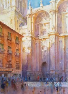 Geoffrey Wynne& web page, member of the Royal Institute of Painters in Watercolour, professional watercolourist.Página web de Geoffrey Wynne, miembro del Royal Institute of Painters in Watercolours, acuarelista profesional. Watercolor Scenery, Watercolor City, Watercolor Landscape, Landscape Paintings, Watercolor Japan, Granada, Watercolor Architecture, Urban Landscape, Art Techniques