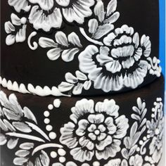 Brush Embroidery Flower Stencil Set by Designer Stencils. Easily create brush embroidery using our stencils and royal icing. Cake Decorating Techniques, Cake Decorating Tips, Cookie Decorating, Decorating Supplies, Brush Embroidery Cake, Embroidery Ideas, Frosting Techniques, Cake Stencil, Royal Icing Decorations