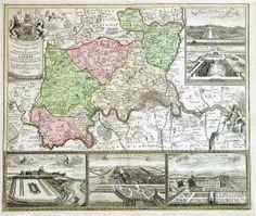 "Kupferstich - Karte, b. Homann Erben, ""Accurater Grundriß u. Gegend . London,  Euro 700.00 ."