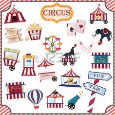 circus food: colección de iconos de circo