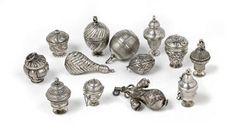 Antique Silver Pomanders