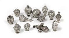 Antique Silver Pomanders
