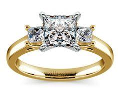 Princess Trellis Diamond Engagement Ring in Yellow Gold  http://www.brilliance.com/engagement-rings/princess-diamond-ring-yellow-gold
