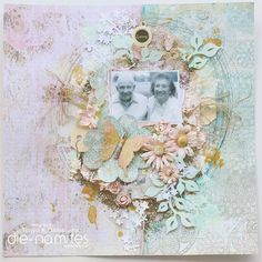 Grandparent's Layout love this idea for canvas