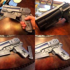 Something we liked from Instagram! 1 of 2.  Fallout 4 10mm pistol with a custom grip for a buddy.  #3D #3dprint #3dprints #3dprinted #3dprinter #3dprinting #gun #fallout4 #fallout #cosplay #pistol #game #gamer #games #gamers #gaming #playstation #playstation4 #ps3 #ps4 #pc #instagood #instagram #instadaily #dailypic by loudmouth3dprinting check us out: http://bit.ly/1KyLetq